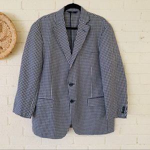 Brooks Brothers Regent Fit Gingham Check Blazer